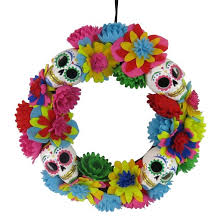 day of the dead felt wreath hyde and eek boutique target