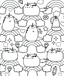 pusheen coloring pages getcoloringpages com