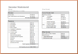 Pro Forma Financial Statements Excel Template 10 Income Statement Template Excel Registration Statement 2017