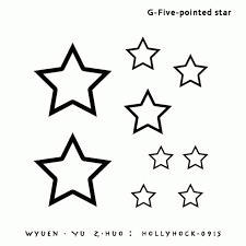 five pionted star tattoo sticker temporary tattoo body art