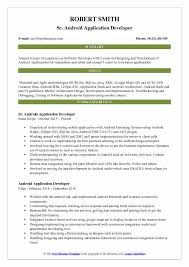 android developer resume android application developer resume sles qwikresume