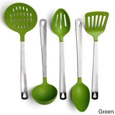 stainless steel and nylon 5 piece kitchen utensil tool set free