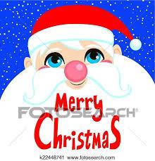 imagenes de santa claus feliz navidad clipart santa claus cara feliz navidad k22448741 buscar clip