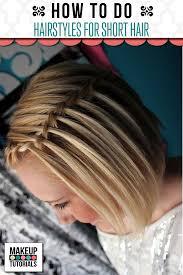 hairstyles for short hair makeup tutorials