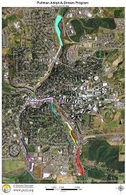 Pullman Washington Map by Pullman Stream Segments Palouse Clearwater Environmental Institute