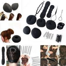 hair bun accessories hair styling accessory magic clip maker tools pads foam sponge bun