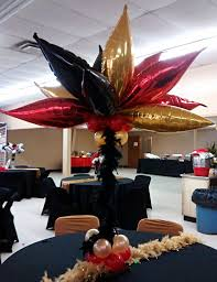 Centerpieces 50th Birthday Party by How I Made This Red And Black Taper Balloon Centerpiece 50th
