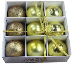 festive season gold shatterproof balls