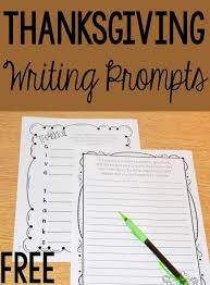 thanksgiving activities for elementary writing prompts
