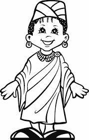 a happy kid from africa coloring images free printable enjoy