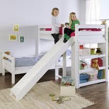 Kidz Beds Beni L Bunk Bed With Slide White Jellybean Ireland - L bunk bed