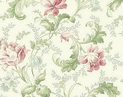 Floral Shabby Chic Wallpaper by Dollhouse Miniature Shabby Chic Wallpaper Pink And Green