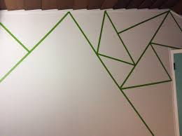 Washi Tape Wall Designs by How To Start Your Triangle Wall Use Frog Tape Only Triangle