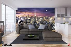 mural night panorama new york wallpapers mural night panorama new york