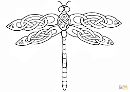 celtic dragonfly design coloring page free printable coloring pages