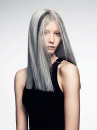 hairstyles with grey streaks gray shine like the streak grey hair don t care pinterest