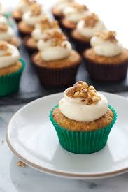 gluten free carrot cupcakes with honey cream cheese frosting