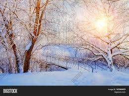 winter landscape warm tones image photo bigstock