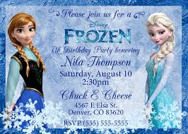 Design For Birthday Invitation Card Frozen Birthday Invitation Template Theruntime Com