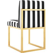 Striped Accent Chair Black And White Striped Accent Chair Kh Collection Also Picture