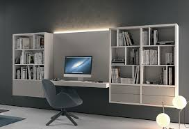 bibliothèque avec bureau intégré bureau intégré dans bibliotheque l19 colombini casa