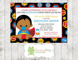african american superhero baby shower invitation you pick