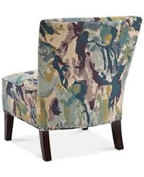 Patterned Accent Chair Jla Coryn Fabric Accent Chair Direct Ship Furniture Macy U0027s
