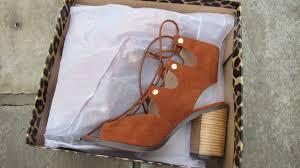 olivia ellen river island heeled gladiator lace ups shoe unboxing
