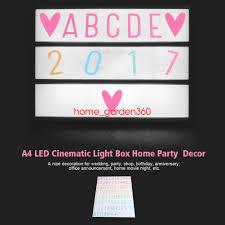 a4 cinematic light up emoji letter box sign lightbox diy message