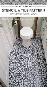 best 25 stenciled floor ideas on painting tile
