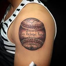 a baseball tattoo is a sign of a true fan it cements your love