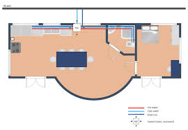 conceptdraw samples building plans u2014 plumbing and piping
