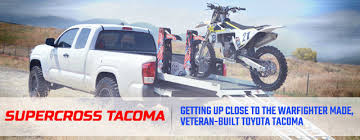 toyota tacoma prices paid supercross tacoma building a truck for a deserving veteran