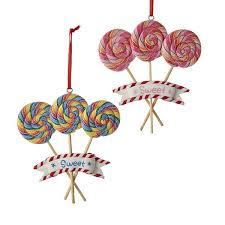 sweet swirl lollipop ornaments claydough ornaments