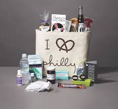 welcome baskets for wedding guests the best made in philly welcome bags for your out of town guests