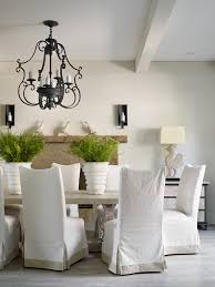 white slipcover dining chair slipcovered dining chairs homesfeed