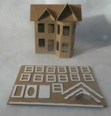 putz style cardboard house victorian diy little village