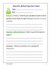 free scientific method worksheet for kids frugal homeschool