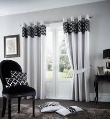 Silver Black Curtains Shiny Silver Black Lined Eyelet Curtains Linen And Bedding