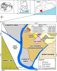 Map Of Ghana E Waste Livelihoods Environment And Health Risk Unpacking The