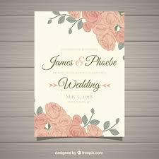 wedding invitations freepik vintage wedding invitation with beautiful flowers vector free