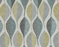 Geometric Fabrics Upholstery Aqua Grey Abstract Upholstery Fabric Cotton Print Curtain