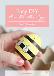 Easter Egg Decorating Ideas Bee by Easy Diy Bumble Bee Egg Rather Luvly