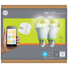 ge link light bulb ge link wireless starter kit a19 smart connected led light bulb