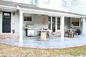 Concrete Patio Bricks Stamped Concrete And Aged Brick Patio Maison De Pax