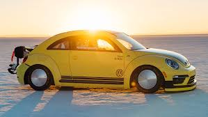 volkswagen beetle goes 205 mph breaks land speed record at