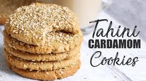 tahini cardamom cookies vegan u0026 gluten free eid cookies youtube