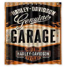 Harley Davidson Curtains And Rugs New Custom Bathroom Decor Shower Curtain Harley Davidson Garage