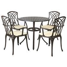 garden cast aluminium stamford 5 piece furniture set