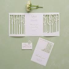 wedding invitations embossed woodland pretty laser embossed invitations with personalization